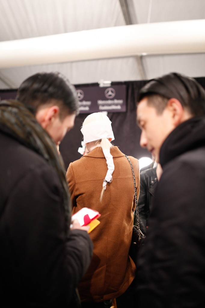 parkchoonmoo backstage pictures and runway