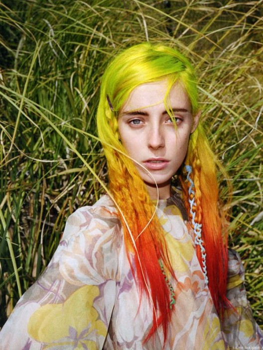 model, chloe norgaard, i-d magazine, who is chloe norgaard, pictures, rainbow, tye dye hair, rainbow colored hair, rainbow bright, rainbow brite, highlighter hair, cute girls, it girls, it models, fun models, smiling, smiling girls, smiling models, 2013, editorial lust, editorials, rad models, rad chicks, girls rule,