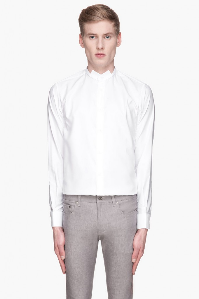 Saint laurent white wing shirt men